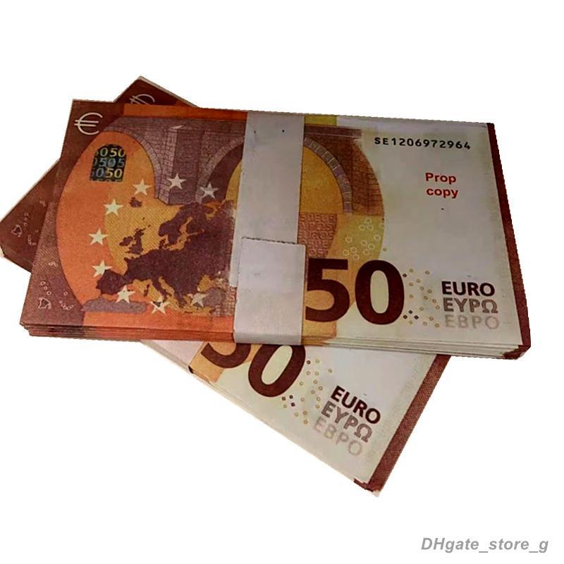 Top Qualität 50Euro Nachtclub Bar Atmosphäre Prop Geld Faux Billet Gefälschte Film Geld Billet Euro 10 Spiel Geld Handwerk LR09