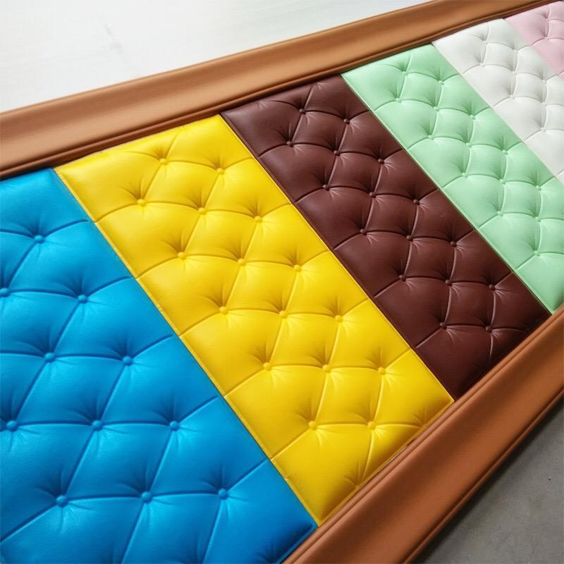 خلفيات 3d ملصقا جدار diy رغوة لينة حقيبة البلاط لوحات ديكور المنزل الجلود للماء ذاتية اللصق خلفيات الاطفال غرفة 30 * 60 سنتيمتر