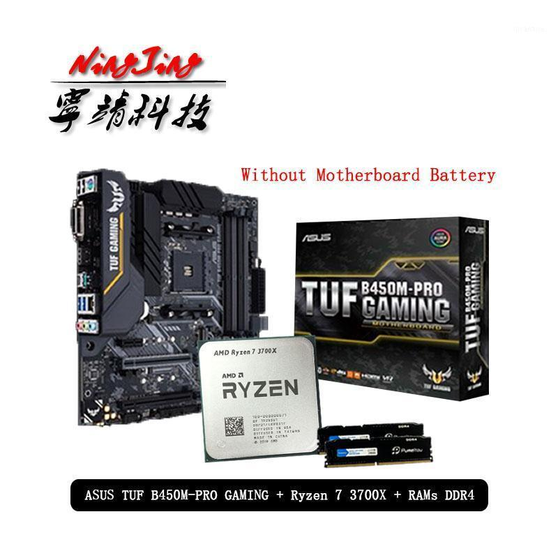 RAMs AMD Ryzen 7 3700X R7 CPU+Asus TUF B450M PRO GAMING Motherboard + Pumeitou DDR4 2666MHz Suit Socket AM4 Without Cooler1