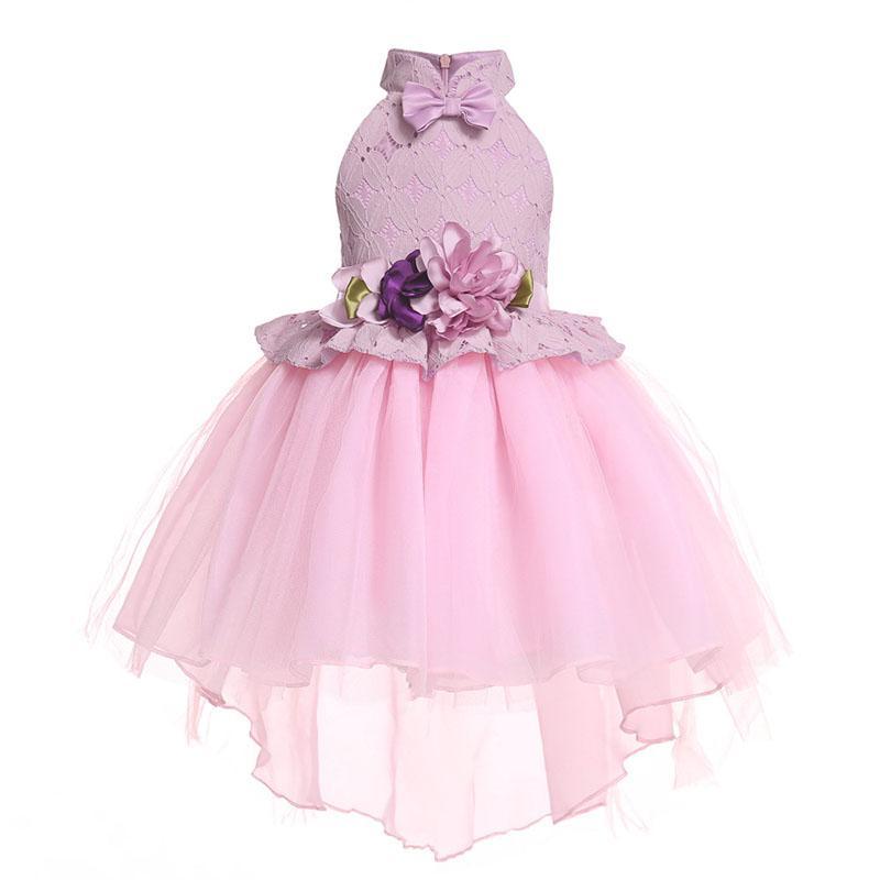 Encaje vestido de novia vestidos para niños para las muchachas fiesta de cumpleaños del vestido muchachas del vestido elegante de Año Nuevo Fiesta de la princesa niños