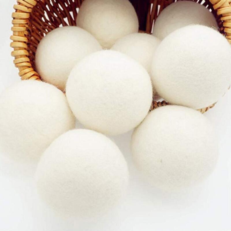 6CM الصوف الجاف الكرة بريميوم قابلة لإعادة الاستخدام النسيج الطبيعي كرات شعر تقليل ثابت يساعد على الملابس الجافة في الغسيل أسرع الغسيل الكرة GWD2467