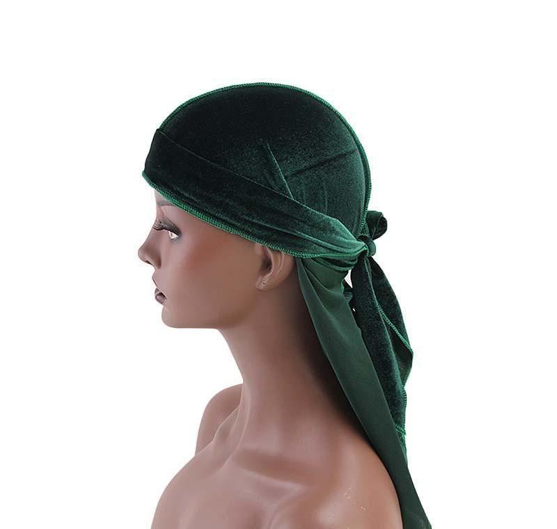 14 스타일 Unisex 벨벳 Durags Bandana Turban Hat 해적 모자 가발 Doo Durag Biker Headwear Headband 해 적 모자 머리 Jllnkf YY_DHHOME