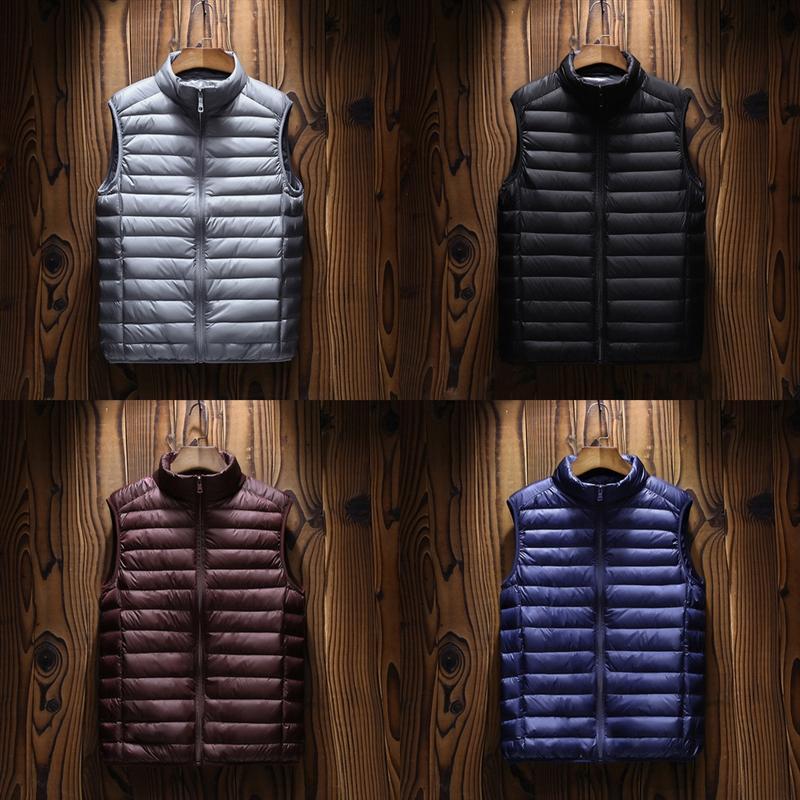 КВМВК роскошный куртка жилет Высокий канадский стиль мужской жилет хлопок человек дизайнер легкий вниз держать теплый жилет мужчин и теплый куртка качество