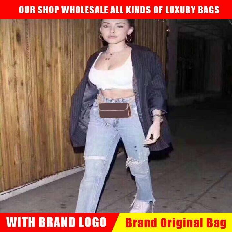 Bolsos de bolsos de diseño de mujeres de lujo bolsas de cintura nueva bolsa de fanny paquetes de cinturones de señora Bolsos de cinturón famosos de las mujeres Bolso de pecho de las mujeres Lady Clutch Wallet monedero Qynf CI