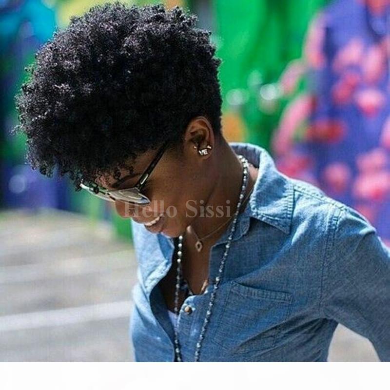 꽉 아프리카 kinky 곱슬 연예인 꽉짜리 곱슬 머리 가득 름 짧은 인간의 머리 가발 처리되지 않은 브라질 머리카락 가발