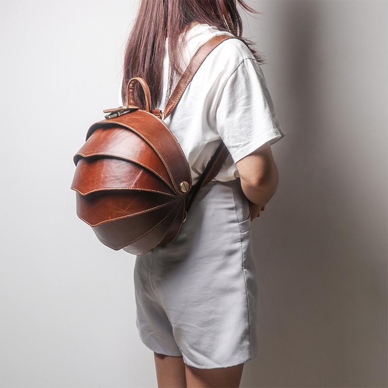 Borsa a tracolla coleottero fibbia moda femminile prime donne di cuoio livello originale zaino retrò signore zainetti viaggio Q1113