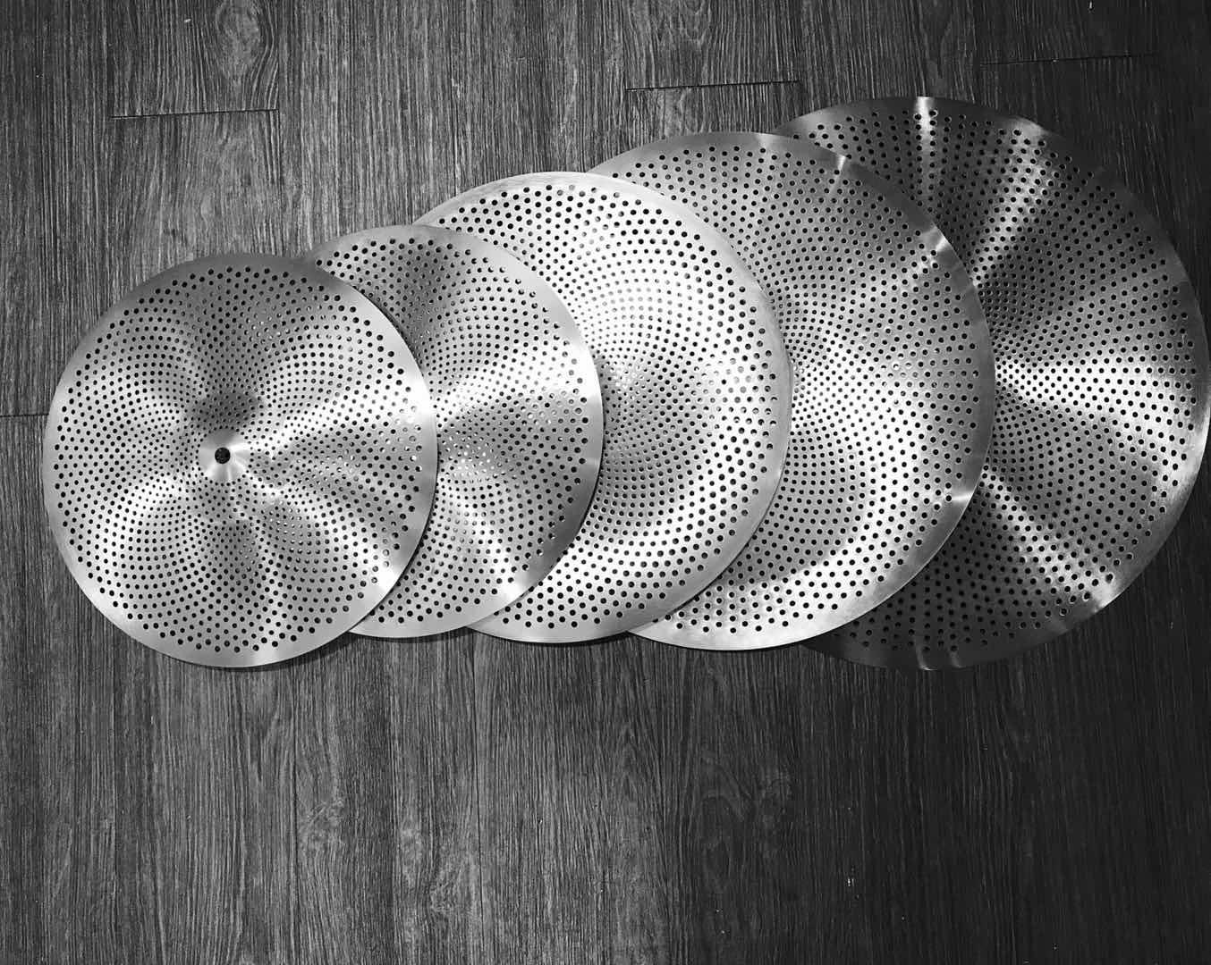 Musoo Düşük Hacim Sessiz Splash Cymbals Paketi Uygulama için