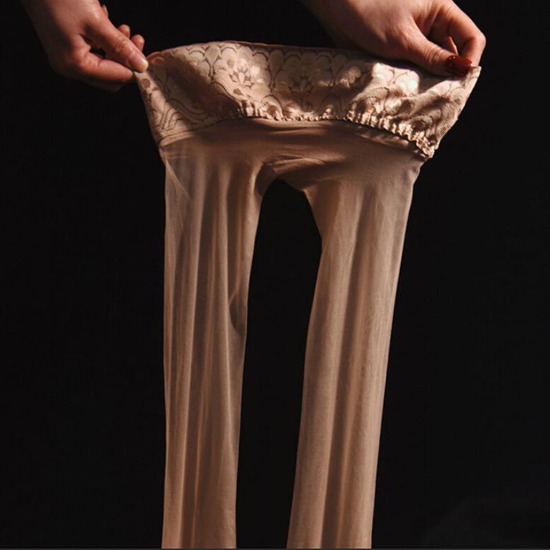 3d vita bassa senza giunte di estrema sottile trasparente sexy della biancheria intima Stealth Calze di seta Calze Collant