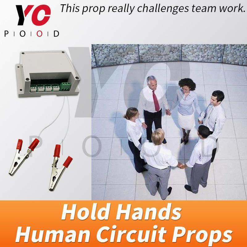 YOPOOD Human Circuit-Stütze-Fluchtraum Hände Hände halten 12V EM-Schloss Takagism-Spiel Hand in Hand, um den Schalter Body Bridge zu entsperren