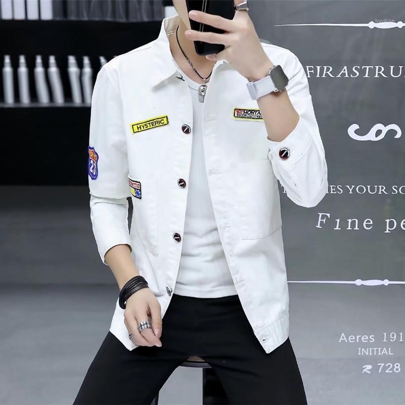 Мужские куртки мужские пальто Летние 2021 ковбойская куртка Корейский издание студент красивый и свободная одежда MP4571