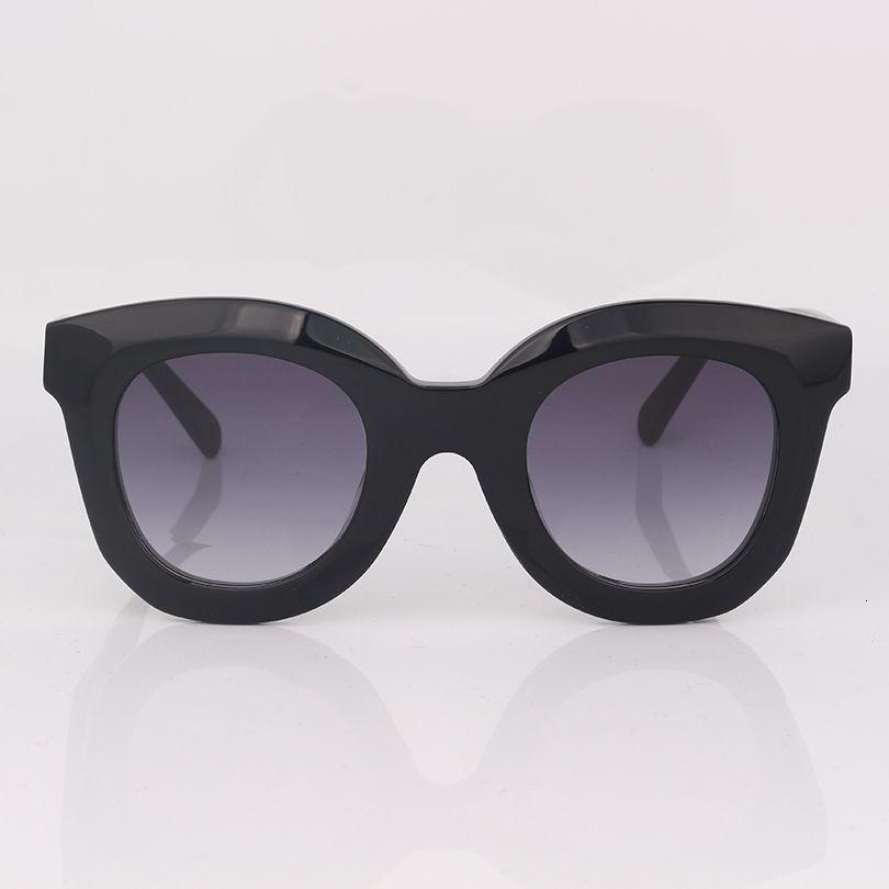 Schwarze Schmetterling Frauen Sonnenbrillen in dicken Acetatrahmen Mode Chunky Style Sonnenbrille Frauen
