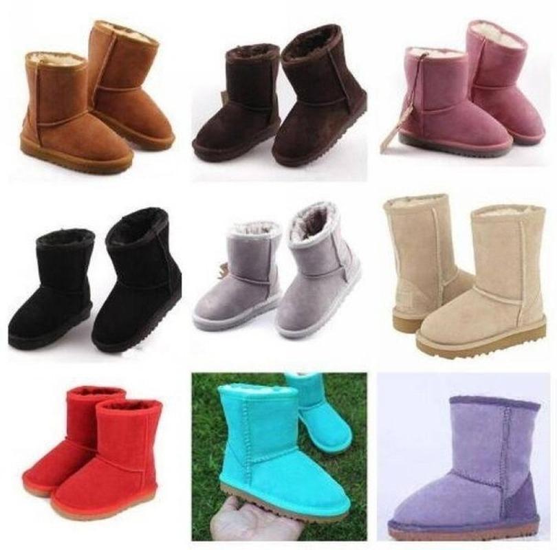 venta caliente Marca muchachas de los niños patea los zapatos de invierno cálido zapatos caliente de la felpa del niño Niños Botas nieve de los niños cargadores de los niños