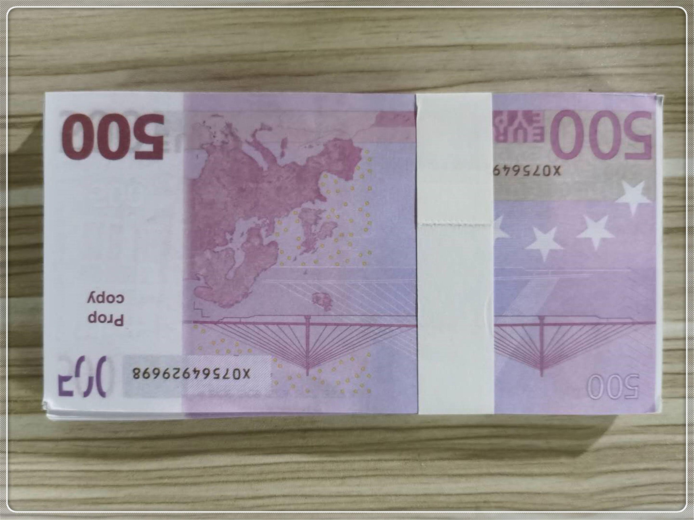 Falsificación Prop Ticket Euro Nuevo 500 Faux Toy Billete de billete Dólar Libra Libra Niños Billet Protes Magic LE500-41 APWCA