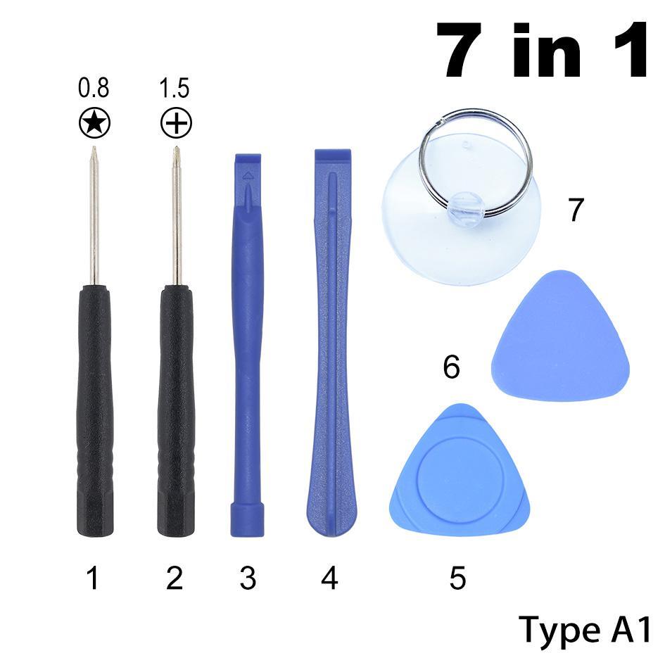 7 في 1 متعددة الوظائف مغناطيسية إصلاح أدوات فتح أدوات كيت بري مع 0.8 pentalobe 1.5 فيليبس لفون سامسونج غالاكسي