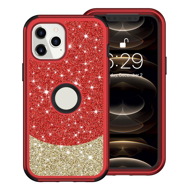 بلينغ بريق حالة الهاتف لآيفون 12 11 برو ماكس الهجين درع حالة الهاتف غطاء الهاتف ل iPhone XS ماكس xr 8plus قذيفة صدمات
