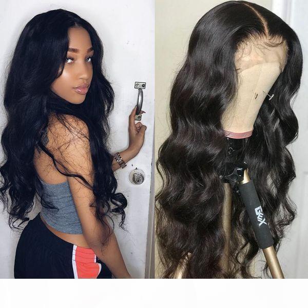 Cru indienne vierge humaine cheveux cheveux dentelle perruque frontale vague de corps pleine dentelle perruque de dentelle brésilienne couleur naturelle pleine dentelle perruque de cheveux humains