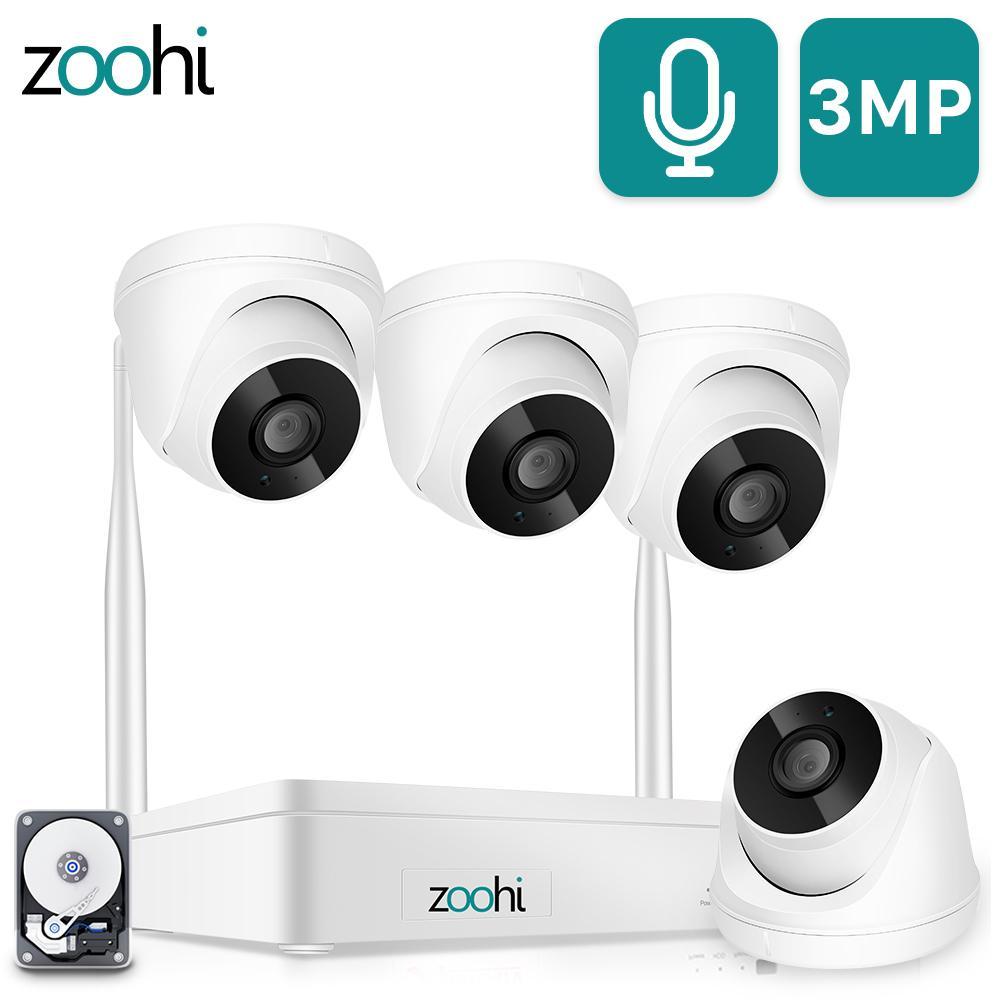 ZOOHI Kapalı Kablosuz Video Gözetim Sistemi 1080 P 2MP HD WIFI Kamera Ses Kayıt Ev Güvenlik Kamera Sistemi Gece Görüş LJ201205