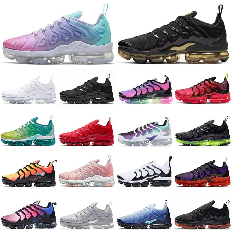 2020 air vapormax plus tn vapors vapor max tns  أحذية الجري ثلاثية أسود أبيض كن صحيحًا للرجال والنساء أحذية رياضية خارجية