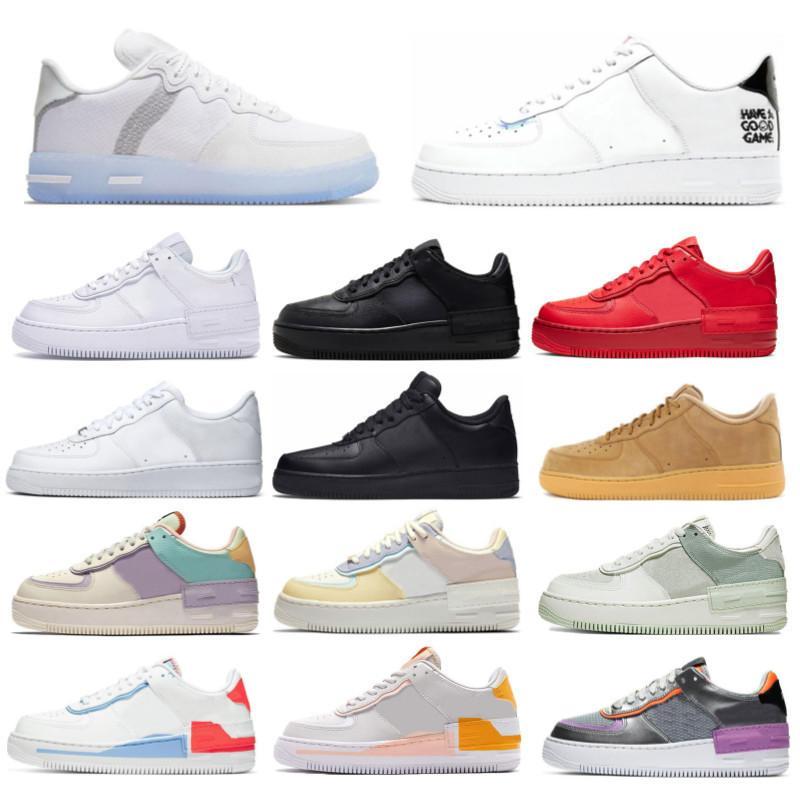 Nike air force 1 Low Shadow أعلى جودة لعبة جيدة الاحذية الظل الضوء العظام الثلاثي أبيض أسود منخفضة 07 المرأة رجل المدربين الرياضية أحذية رياضية حجم 36-45