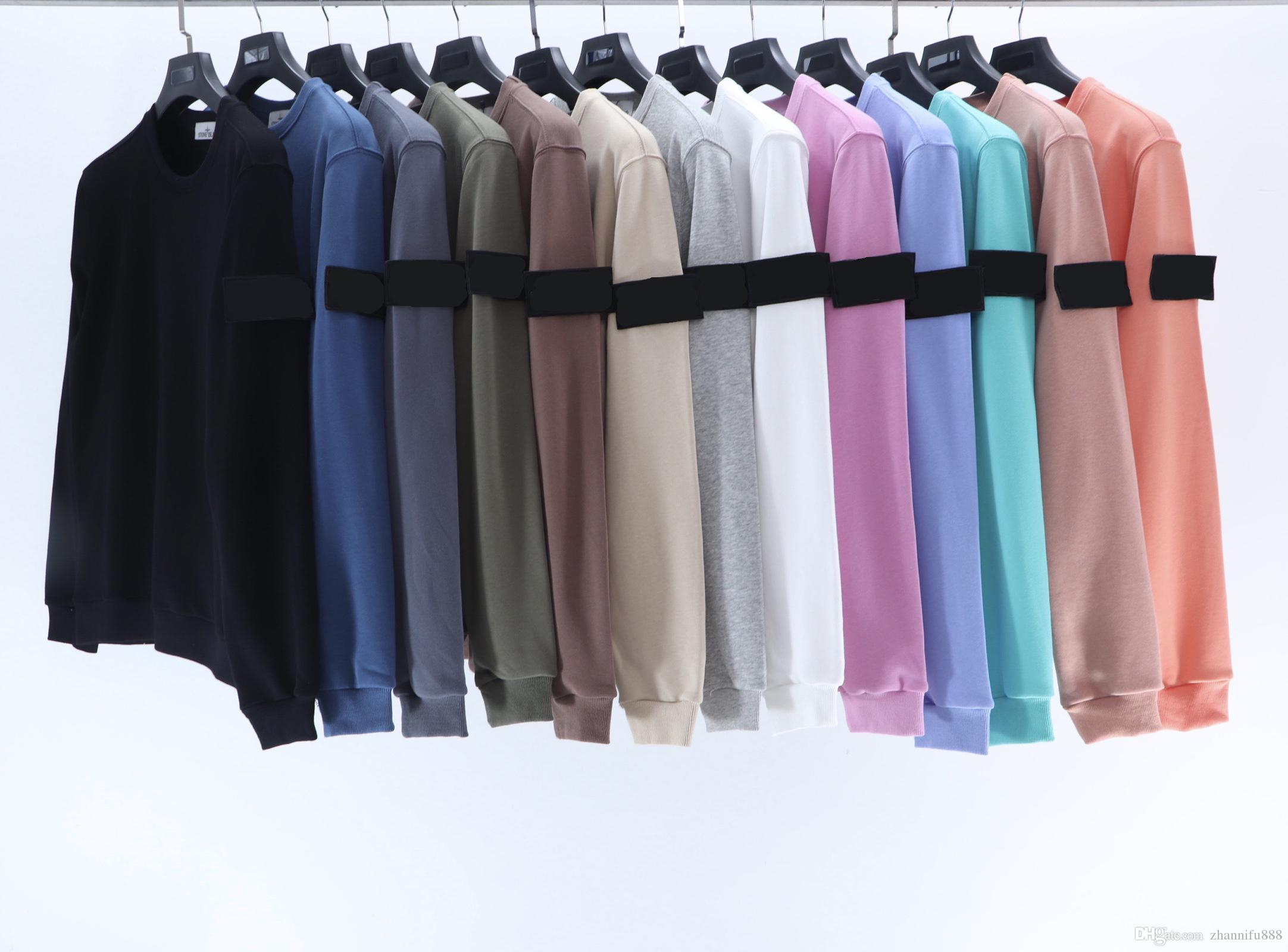 2020 uomini felpa street fashion maglione tessuto di cotone collo rotondo di alta qualità importato Braccio decorazione distintivo ricamato asiatico dimensioni ponticello