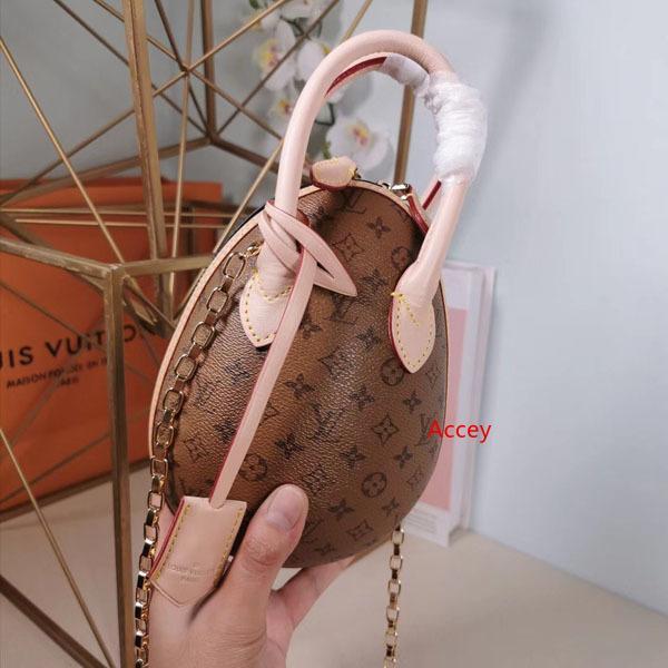 Bolsa Marca caliente huevo Diseño de Moda hombro cadena de cuero genuino bolso 20CM Nicolas Ghesquiere bolsos crossbody con mango M44587