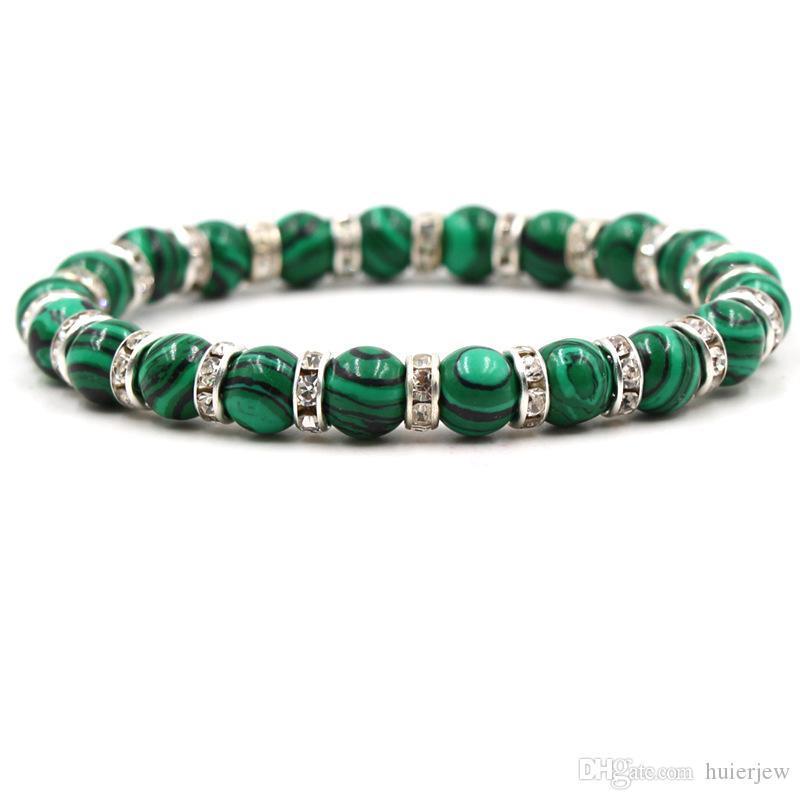 beau bracelet en pierre malachite hommes Bracelet anniversaire perles bracelet en pierre cadeau
