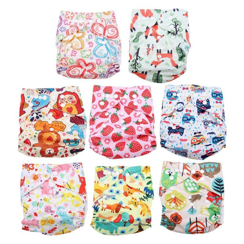 Baby Training Pants Baby Diaper Reusable Nappy Washable Infant Diapers Cotton Learning Pants Diapers 3/4 Layers for 8-13KG