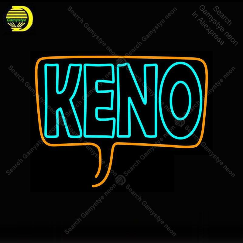 Neon Sign for Cersive Keno 3 neon bulb Sign Neon lights Sign glass Tube Iconic Light Store display Custom LOGO anuncio luminoso