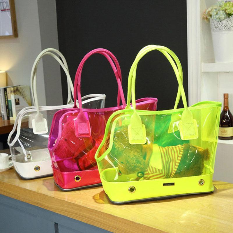 New Fashion Transparent Breathable Small Pet Cat Dog Travel Luxury Carrier Bag Outdoor Portable Carrying Bags Tote Handbag PB6081