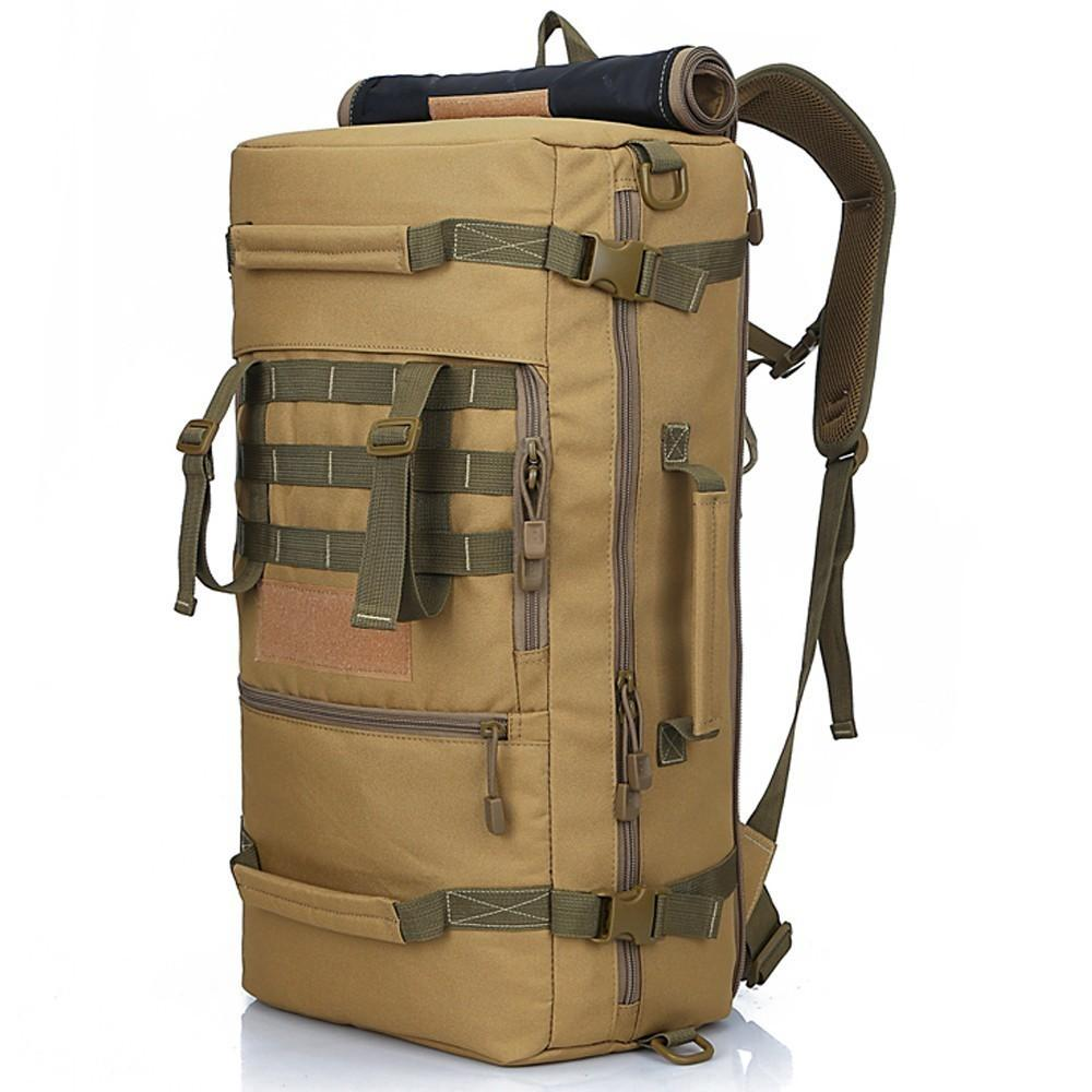 Водонепроницаемый Открытый 50L Сумка Армия Тактический Военный рюкзак Камо Треккинга Путешествия Сумки для мужчин Женщины Поход Кемпинг Охота рюкзаки Y200920