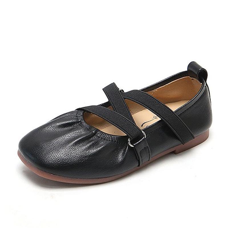رياضي في كابسيلا الاطفال الفتيات أنيقة الأميرة الأحذية الشقق 2021 الأطفال مرونة الفرقة لينة وحيد عارضة الحجم 21-35