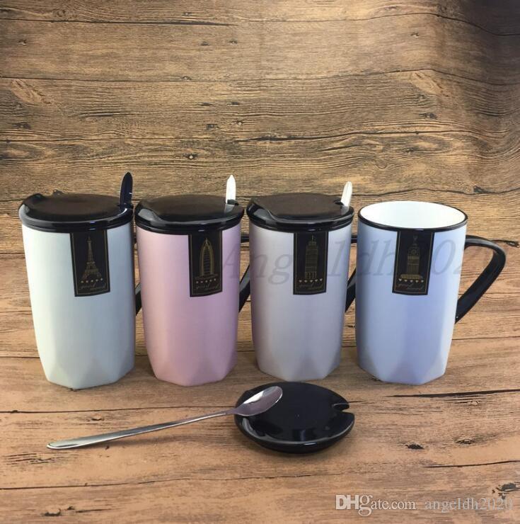 Neuer Keramikbecher 201-300ml Vier Farbe kreativ unregelmäßiger netter Wasser Tasse Tasse Getränk DHL Freies Verschiffen