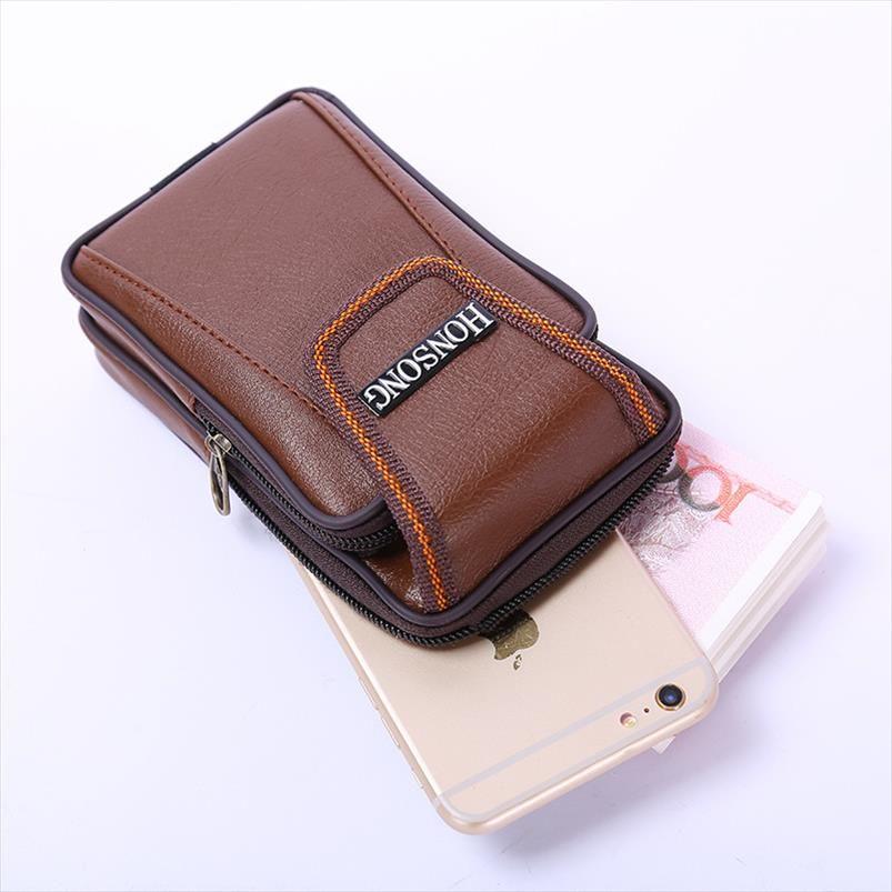 BISI multi telefone função saco de homens moeda cintura do vintage na correia exterior resistentes heuptas pequeno desgaste carteira 2020 PU Heren