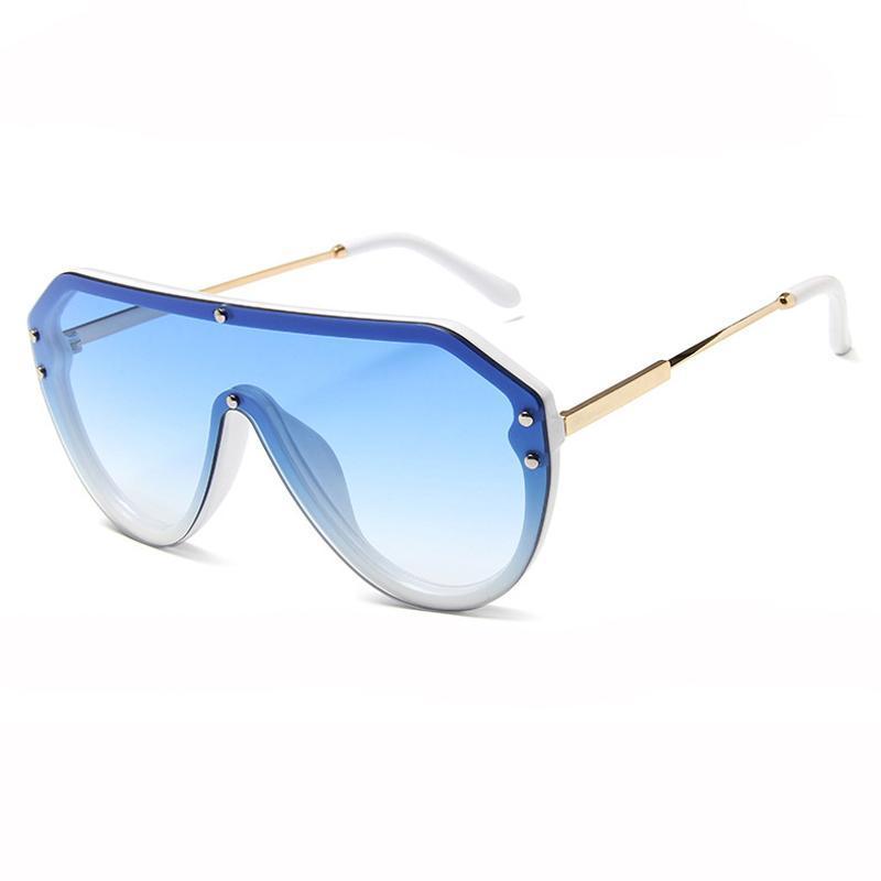 2020 Óculos de sol quadrados de grandes dimensões Mulheres homens estilo de sol óculos de sol gradiente óculos steampunk designer rebite moda RGEWN