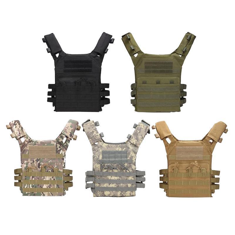 Tactical Molle Vest Vest para Unisex casaco leve ajustável para Gaming Training
