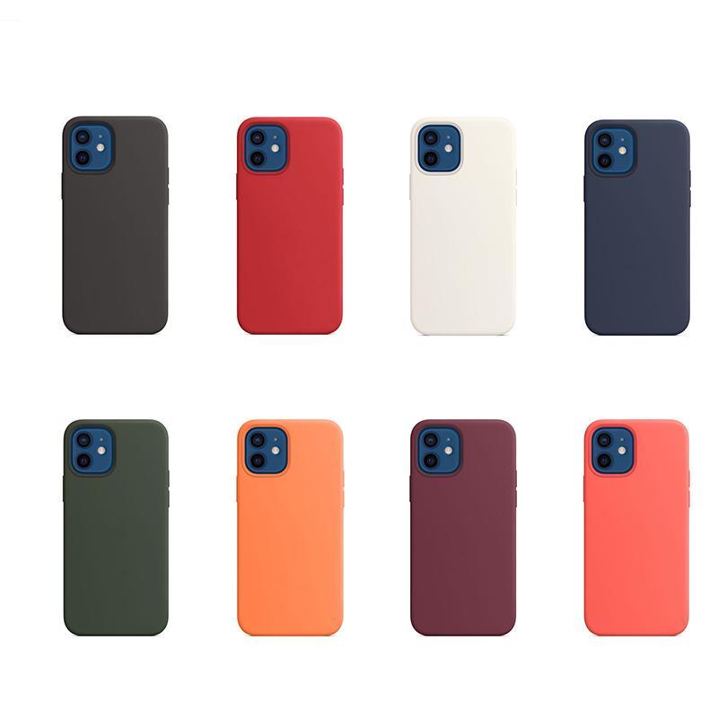 Официальные Жидкий силиконовый чехол для iPhone 12 11 Pro Max 12 Mini 7 8 XR X XS MAX Противоударно Полного Дела Обложки