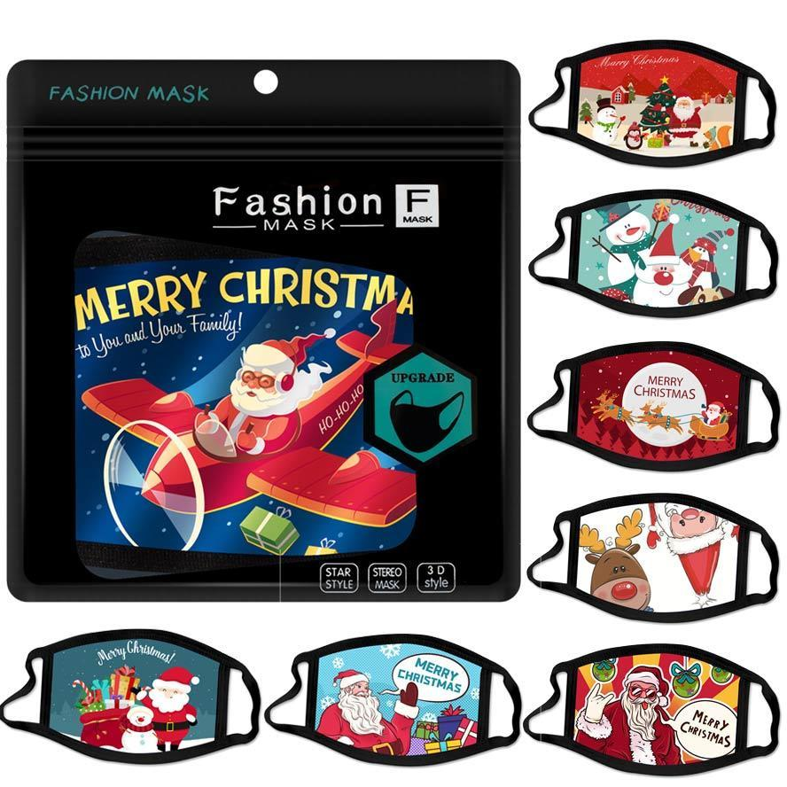 Noel yüz maskesi karikatür tasarım yüz maskeleri Santa hediye kardan adam maskesi toz pus moda yetişkin moda erkekler kadınlar GH825 Facemask