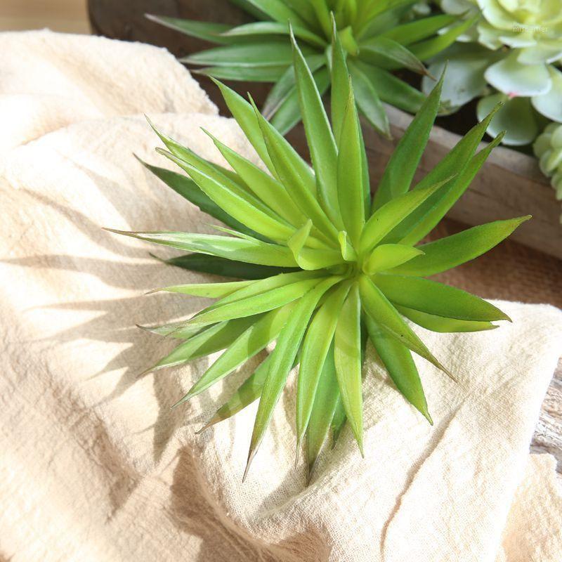 Декоративные цветы венки 1 шт. Искусственные суккуленты Поддельные растения для сада Главная Бар Украшения DIY Зеленый Большой Флаг Листья Рождественская вечеринка
