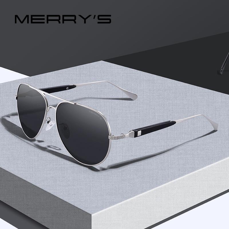 Erkekler Erkek Gözlük UV400 Koruma S8309 için Merrys TASARIM Erkekler Klasik HD Polarize Güneş Gözlüğü Pilot Güneş