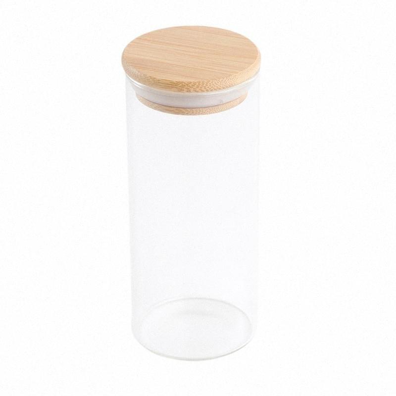 380ml / 300ml / 250ml / 175ml frasco de vidro claro selado Tanques vasilha recipiente de armazenamento Cozinha vedação para Coffee Bean UwAV #