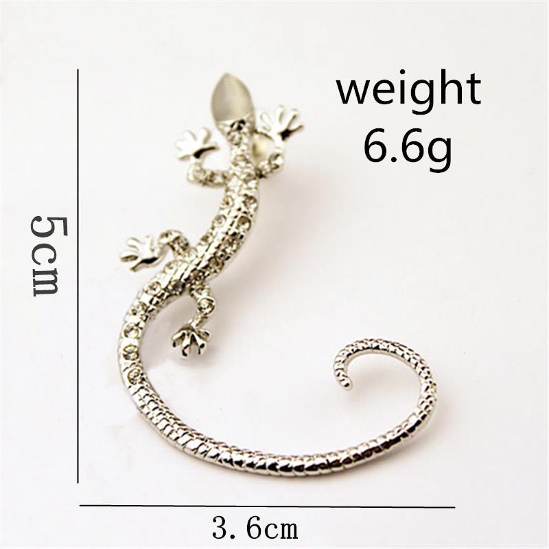 Coreano exagerado Bijoux Lizard Stud Pendientes para mujeres Gecko Pendientes Pendientes de Rhinestone Joyería de moda Brincos Oorbellen