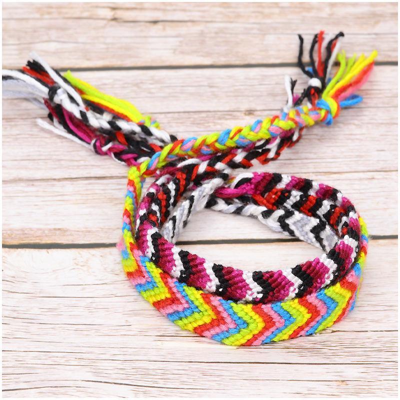 4 stili Bohemian Amicizia tessuto Wrap fascino del braccialetto donne Handmade Chic Girl Yoga Regali del braccialetto di Natale