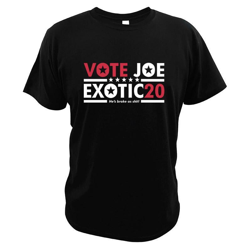 Voto para Joe candidatos presidenciais exóticas Eleição Retro revisão Tiger Rei TV Series Casual Camiseta esporte moletom com capuz Hoodie