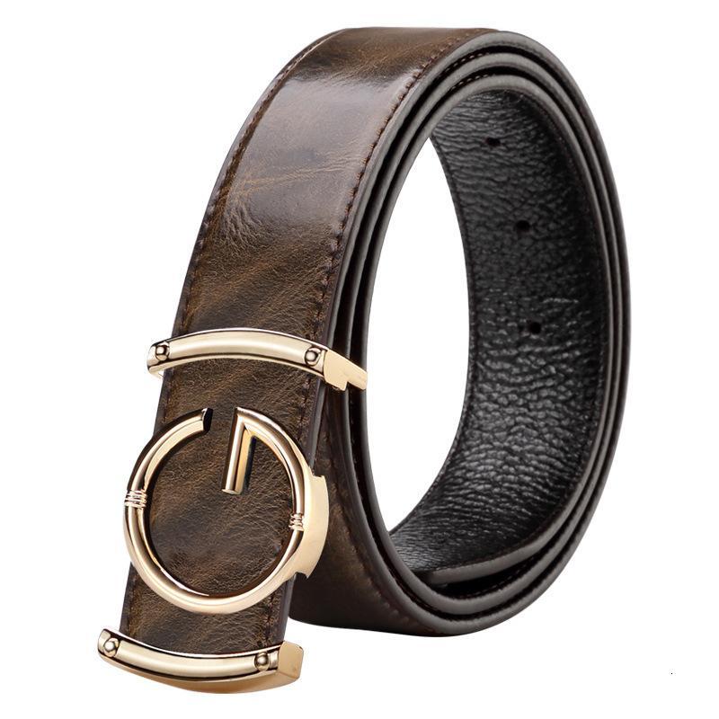 Ceinture véritable cuir design de design de cervelles hommes haute qualité mode vintage femmes femmes bracelet pour jeans peau de vachette