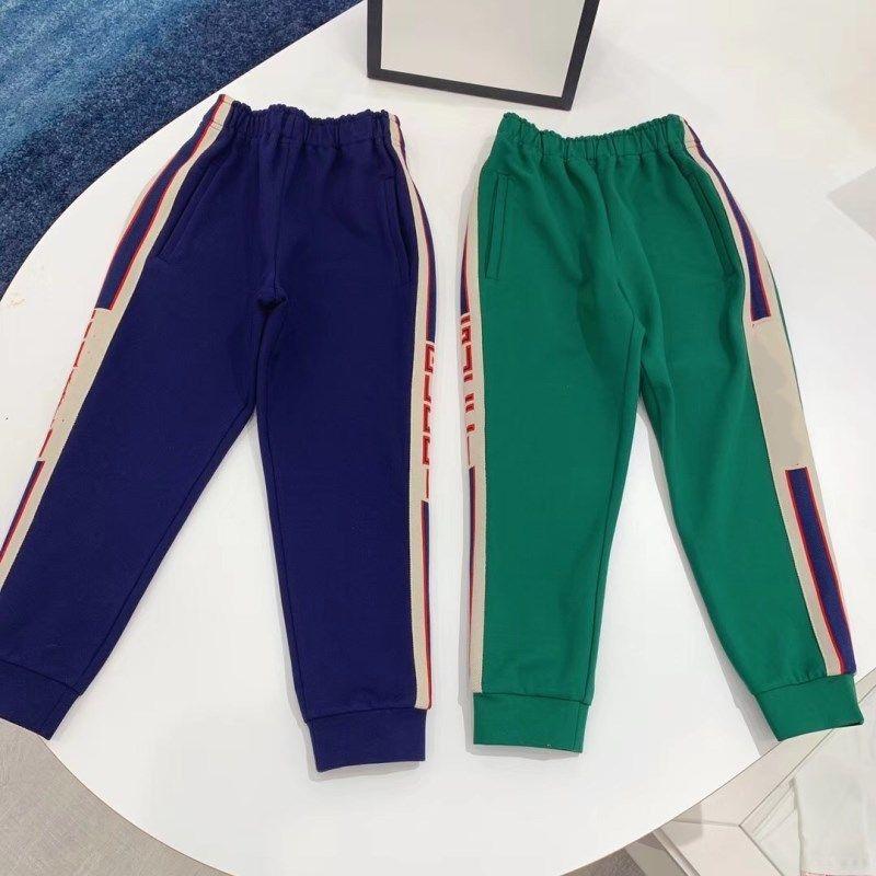 NEW Sport Pants For Children Boy&Girl Kids Slacks Blue&Green Trousers Top Quality Unisex Clothing For Kids LJ201019