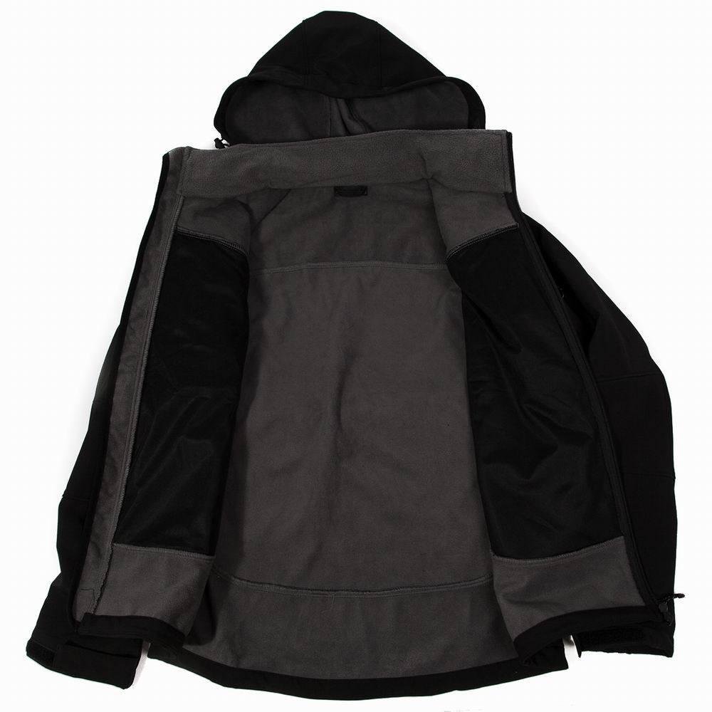 Новый стиль мужчины, походы куртка ветрозащитный мягкий оболочкой куртка мягкая куртка мужская с капюшоном теплый флис водонепроницаемый открытый туризм