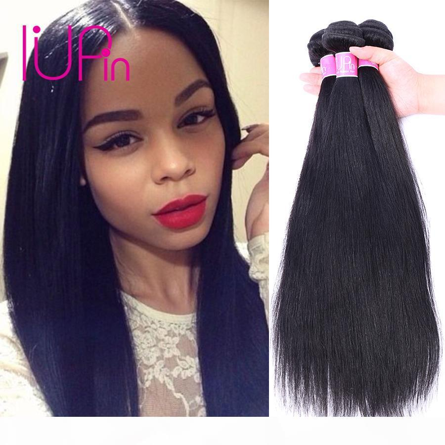 IUPIN Company Brésilien Droite Vierge Cheveux 4 Bundles Offres Naturelle Remy Brésilien Droite Droits Tissu EXTENSIONS DE CHEVEUX HUMUME LIVRAISON GRATUITE