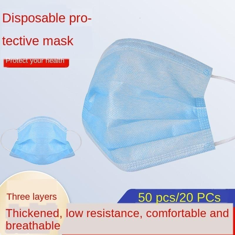 Daily Disposable Dust-proof Non-woven 3-layer Civil Adult Protective Mask