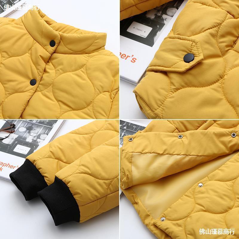 Grande gordo mm luz para baixo jaqueta de algodão outono e inverno 2020 novo casaco de lazer de manga longa feminina solta