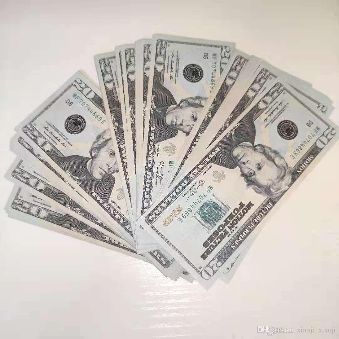 Aprendizaje de los accesorios para el dólar adulto 1/5/10/20/50/100 Juguetes Mejor herramienta Money Bar Props Toys Children's Videojuemes Films 008 TNFBV
